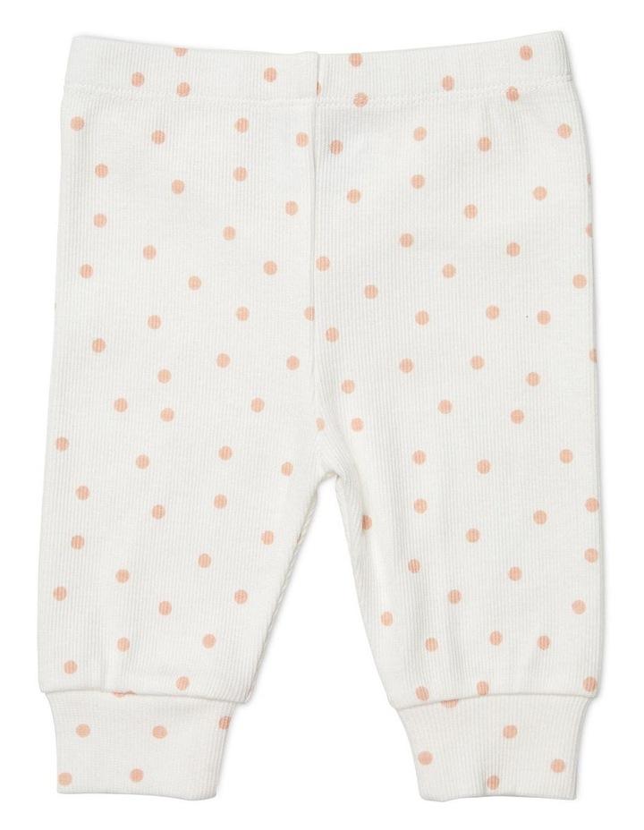 Spot Footless Rib Pants Pink image 1