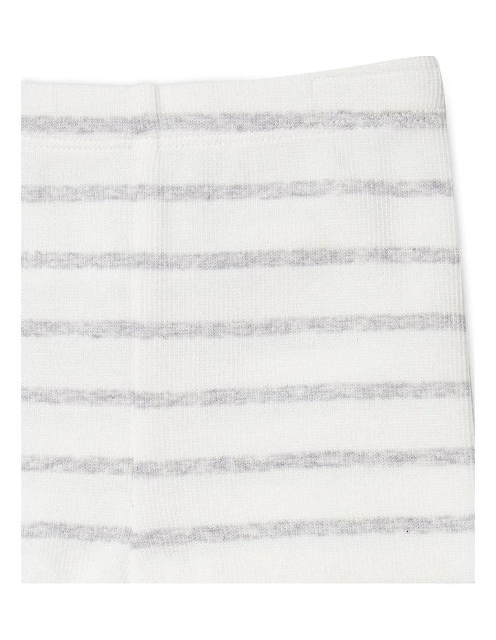 Grey Stripe Footless Rib Pants image 2
