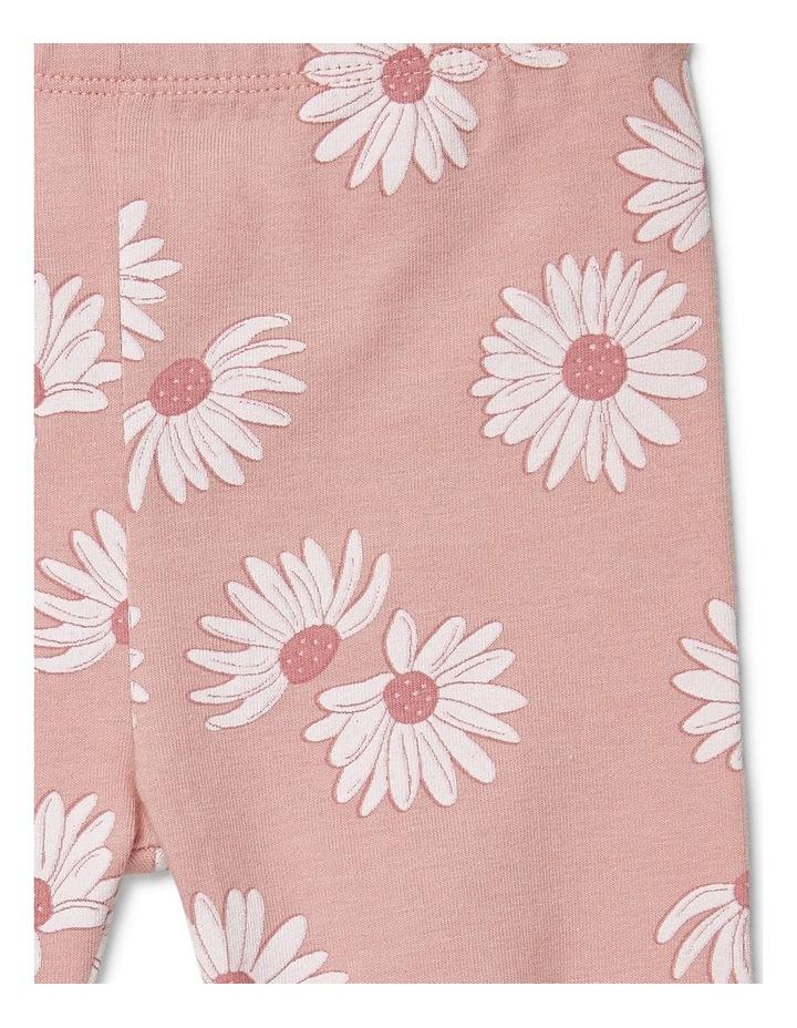 Pink Flower Print Leggings image 1
