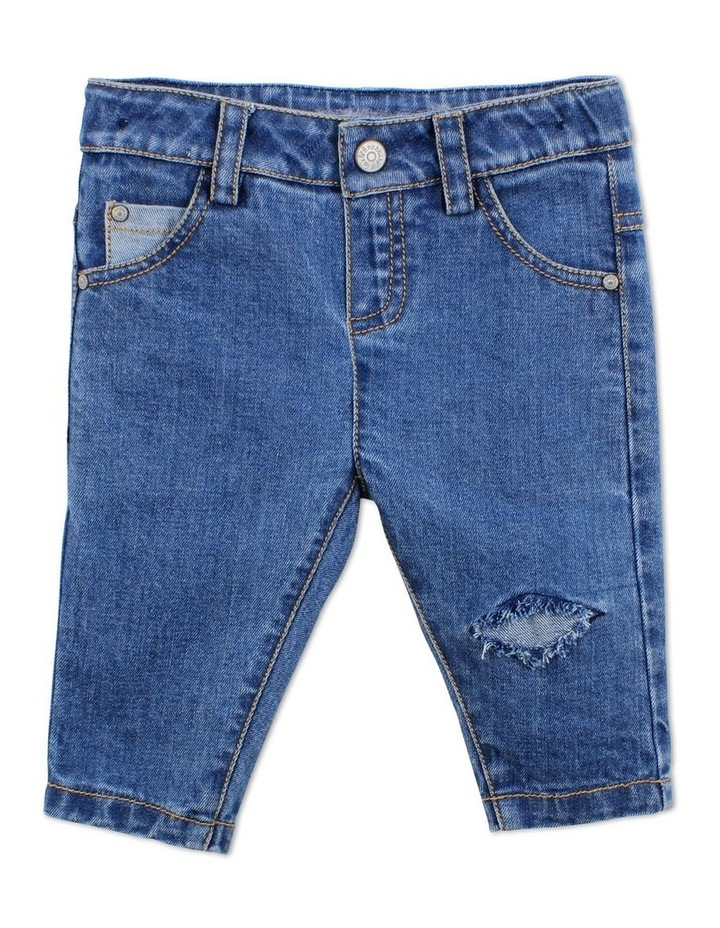 Spot Distressed Jean image 1