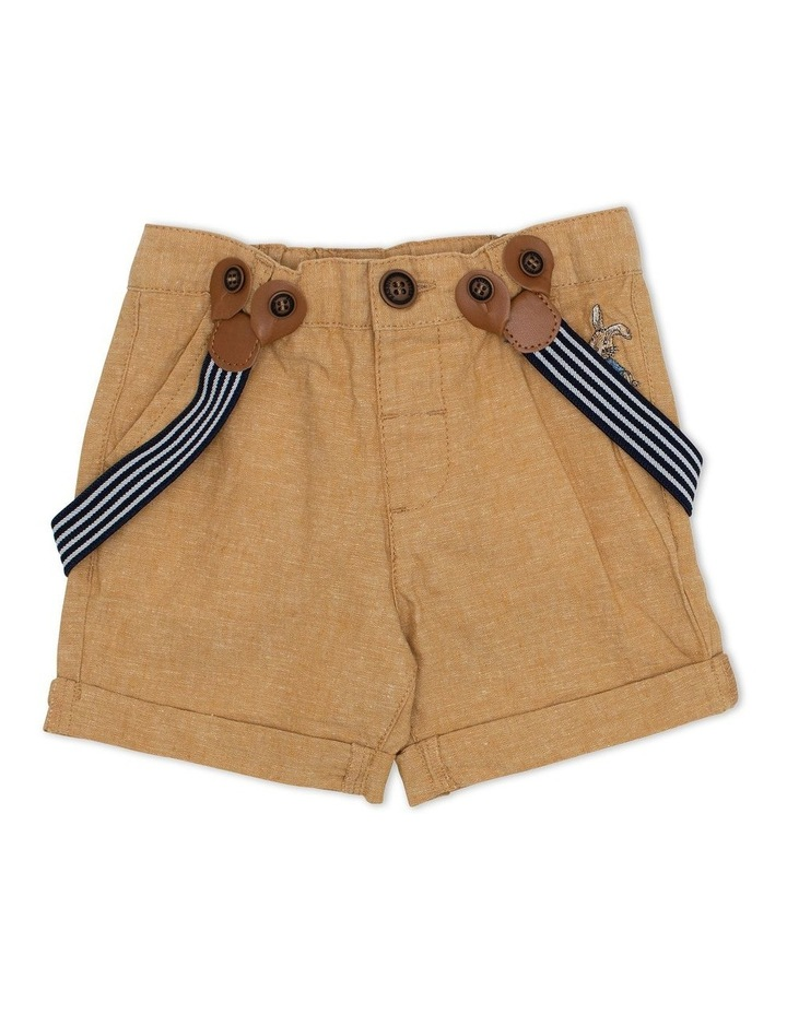Cross Dyed Shorts with Braces image 1