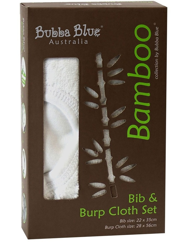 Bamboo Bib & Burp Cloth Set image 1