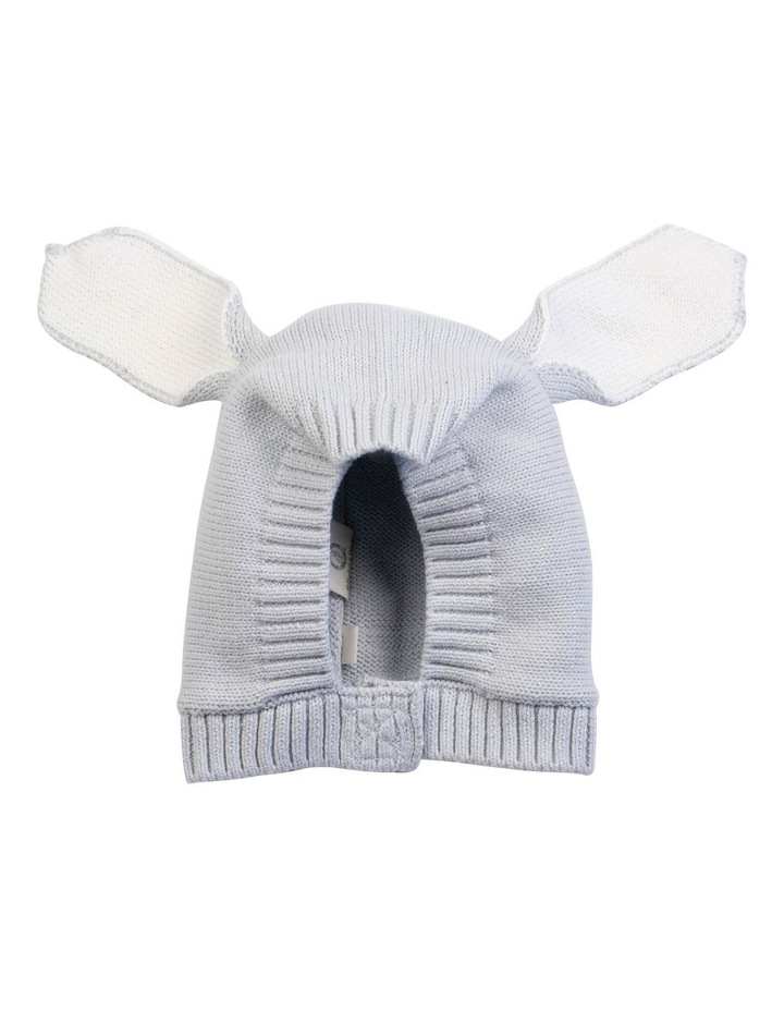 Grey Knitted Bunny Bonnet image 1