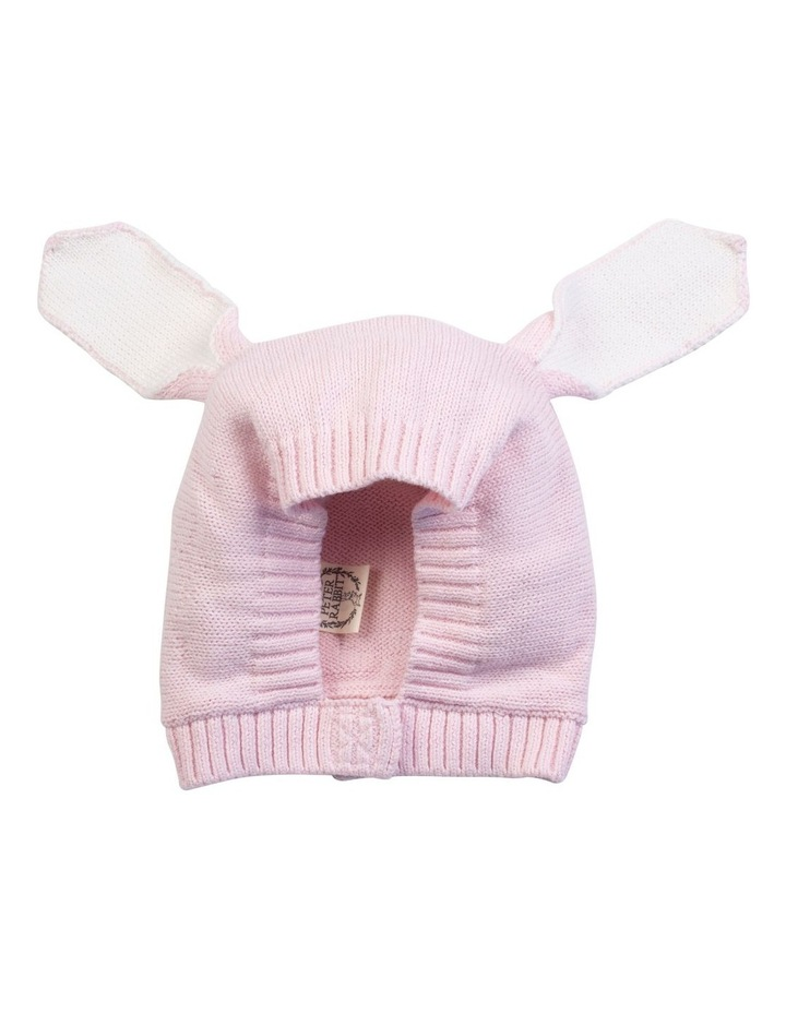 Pink Knitted Bunny Bonnet image 1