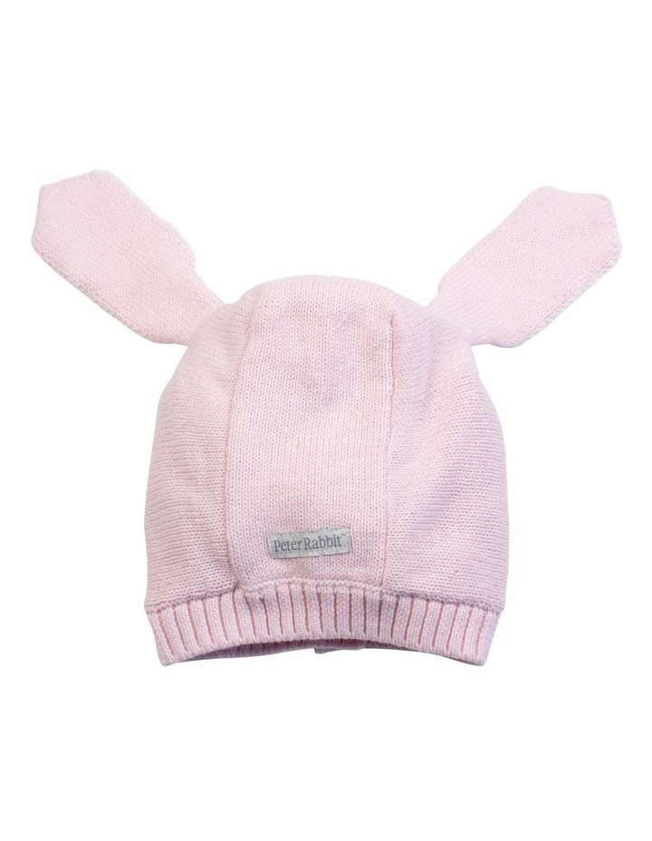 Pink Knitted Bunny Bonnet image 3