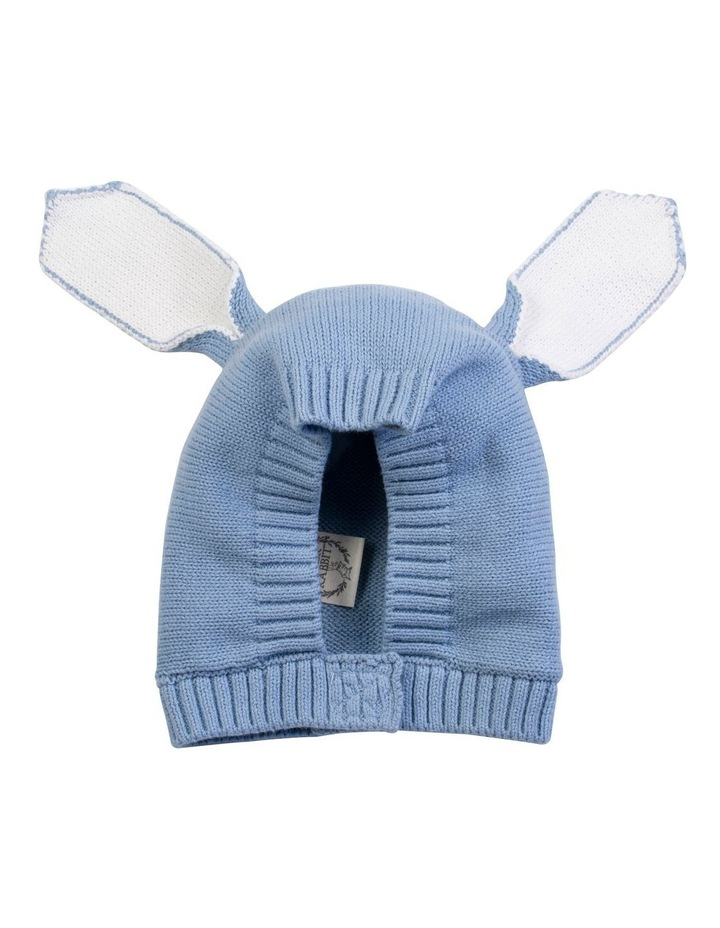 Blue Knitted Bunny Bonnet image 1