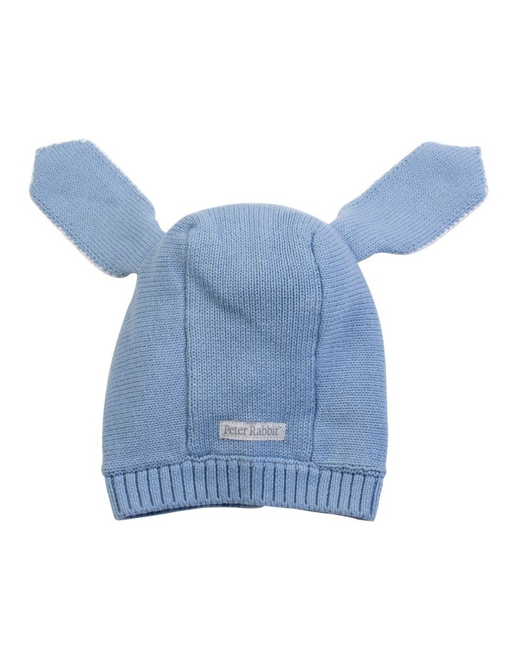 Blue Knitted Bunny Bonnet image 3