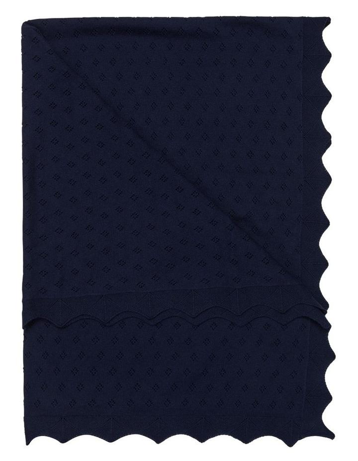 Navy Cotton Blanket image 1