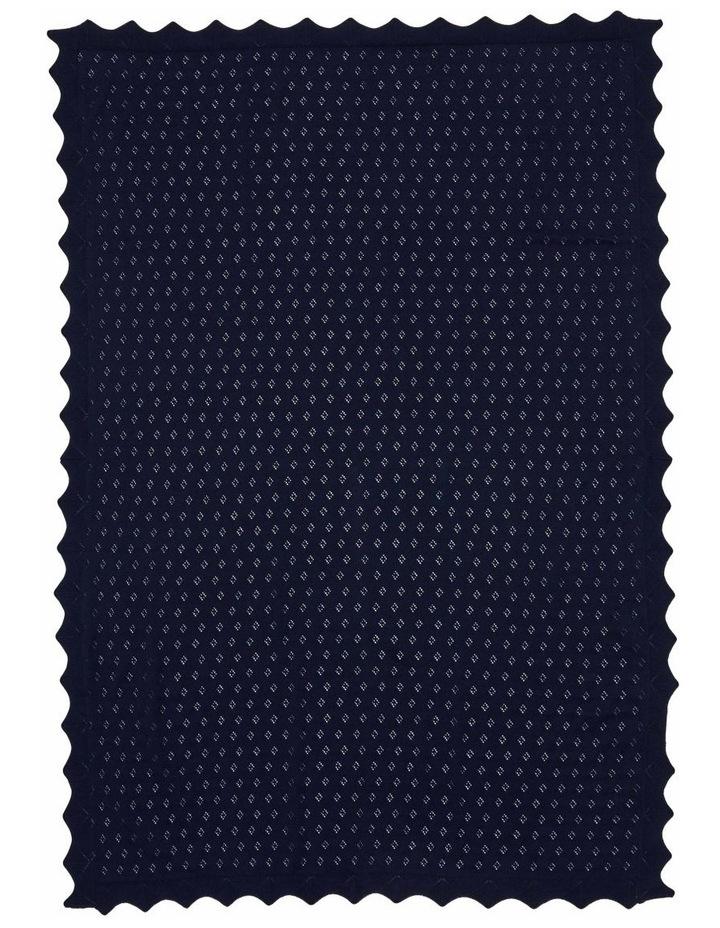 Navy Cotton Blanket image 2