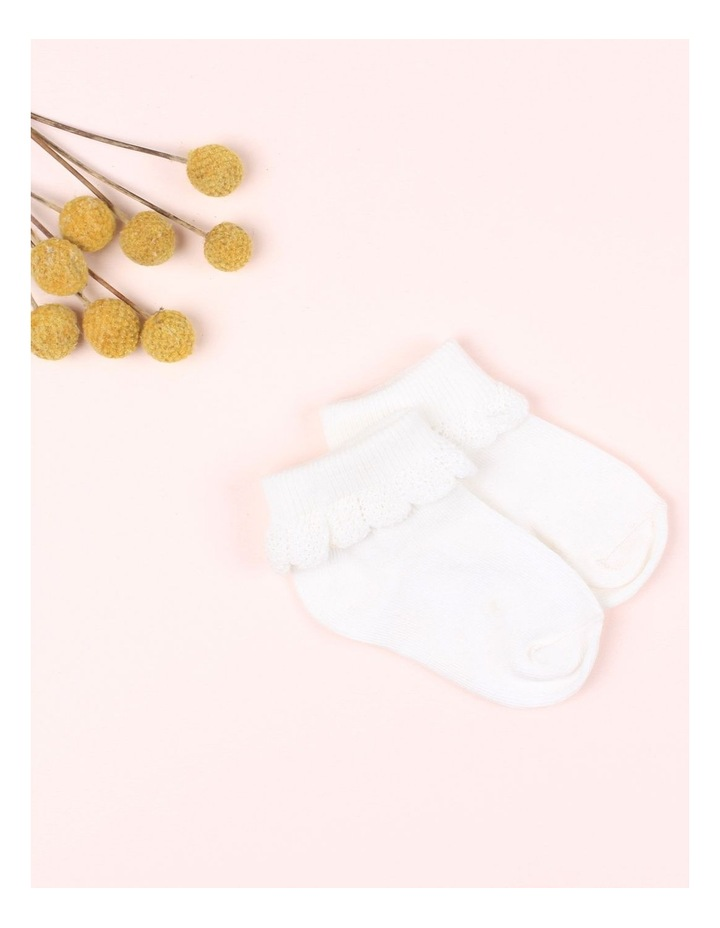Drop Needle Cream Socks image 2