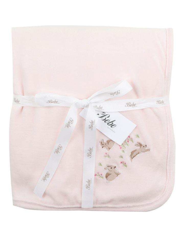 Velour Blanket in Pale Pink image 1