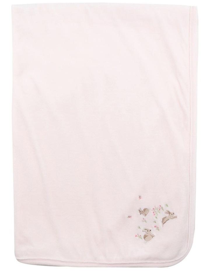 Velour Blanket in Pale Pink image 2