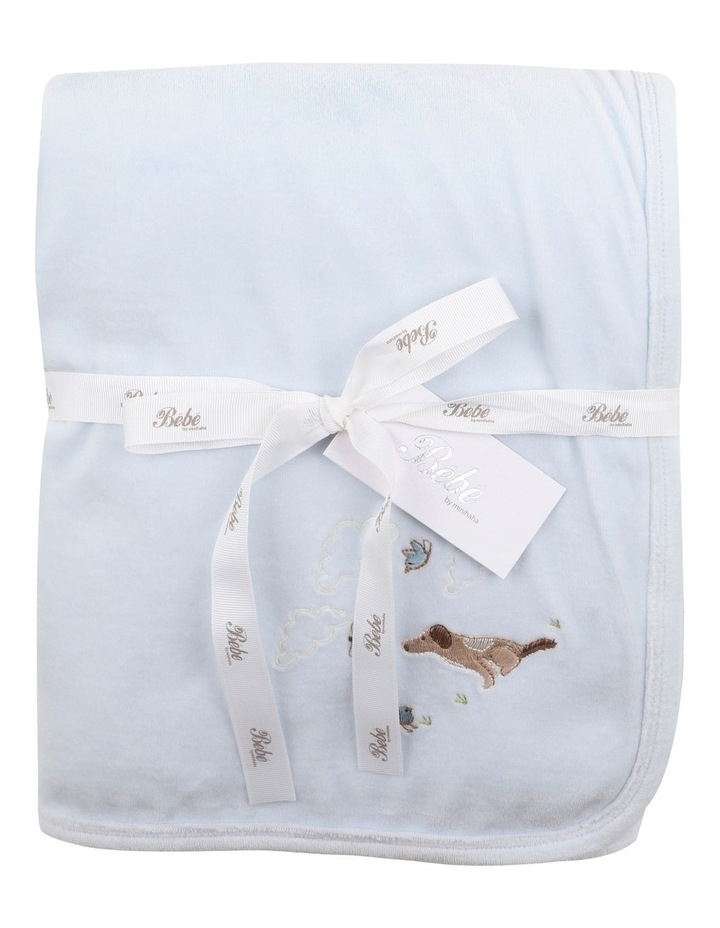 Velour Blanket in Pale Blue image 1
