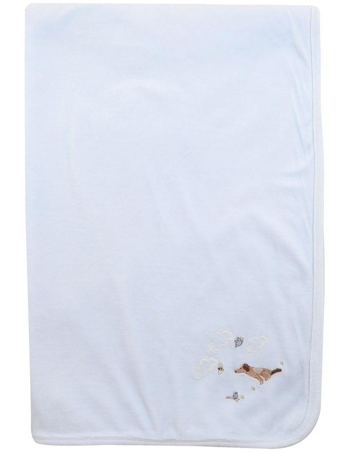 Velour Blanket in Pale Blue image 2