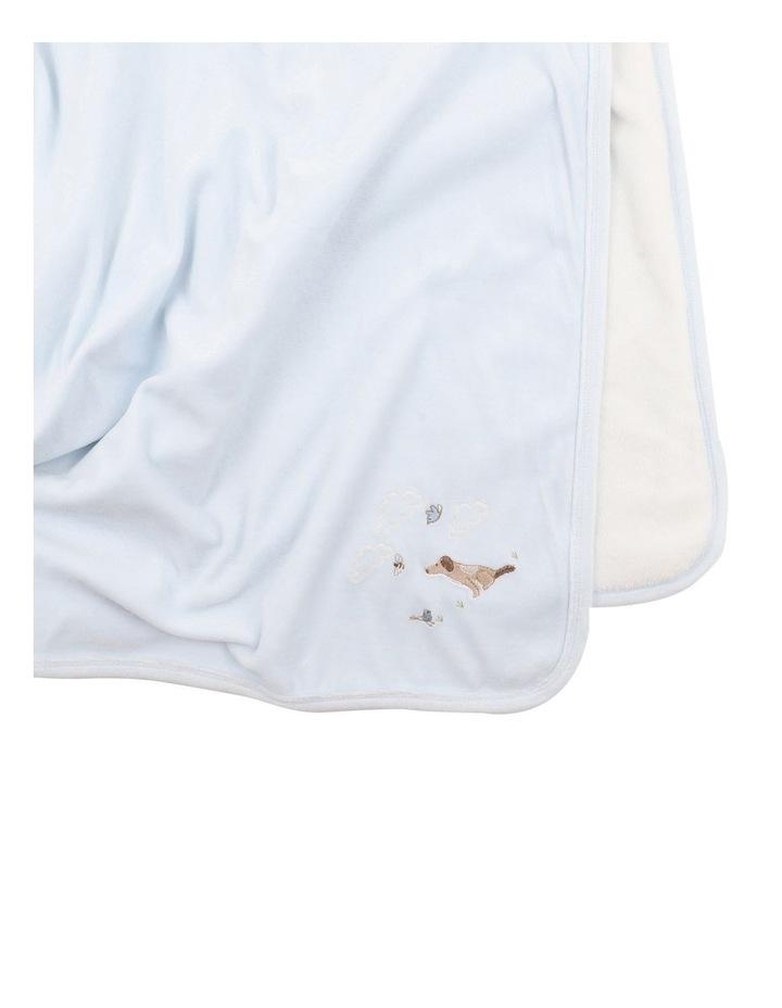 Velour Blanket in Pale Blue image 3