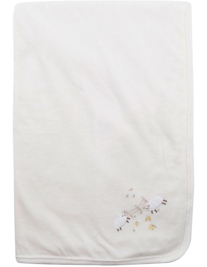 Velour Blanket in Cream image 2