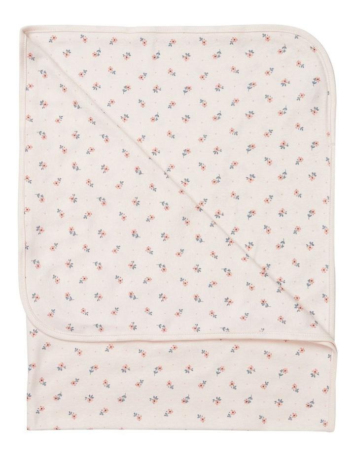 Pink Floral Cotton Wrap image 1