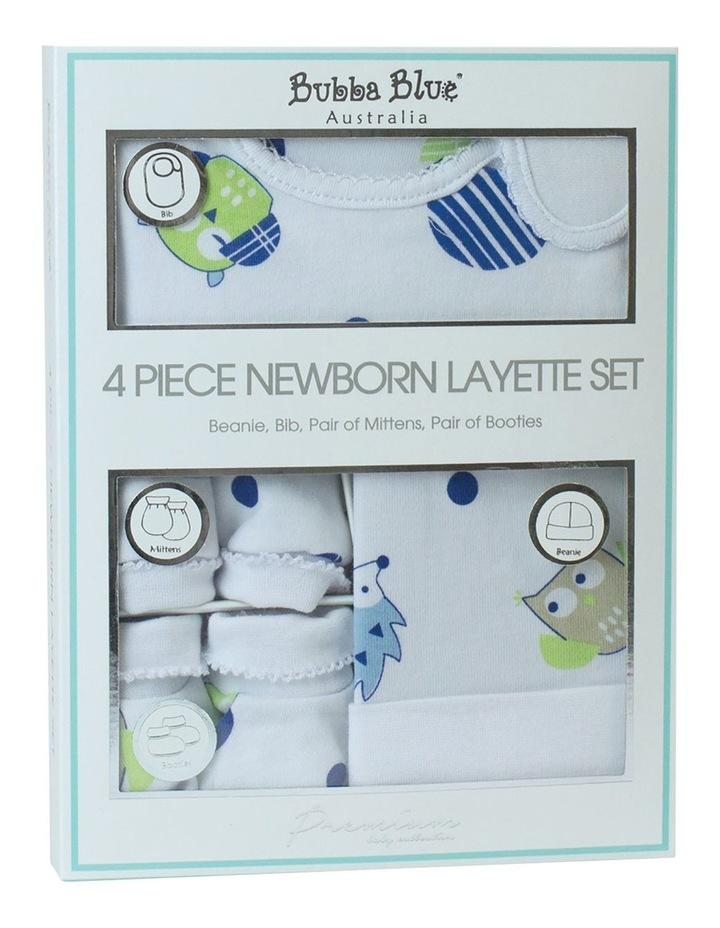 Boy Owl 4 Piece Newborn Layette Set image 1