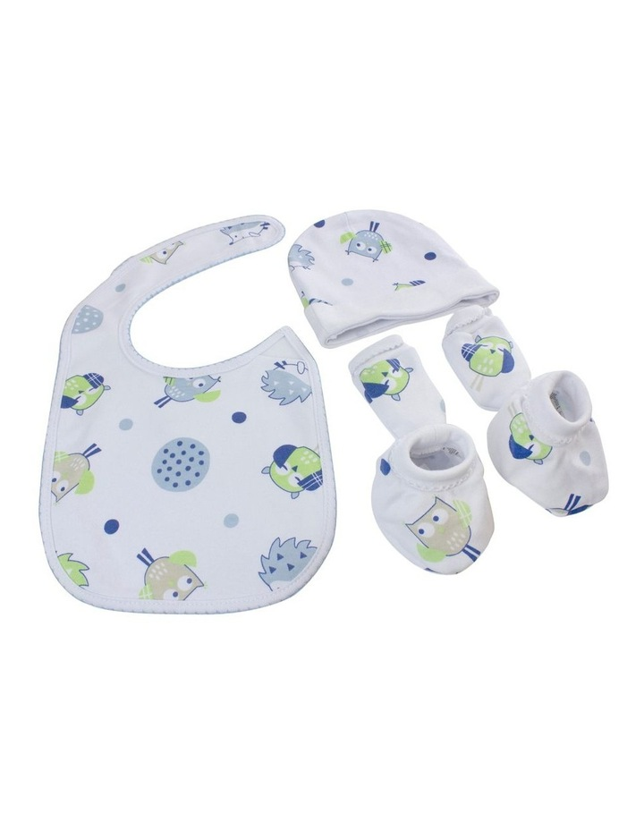 Boy Owl 4 Piece Newborn Layette Set image 2