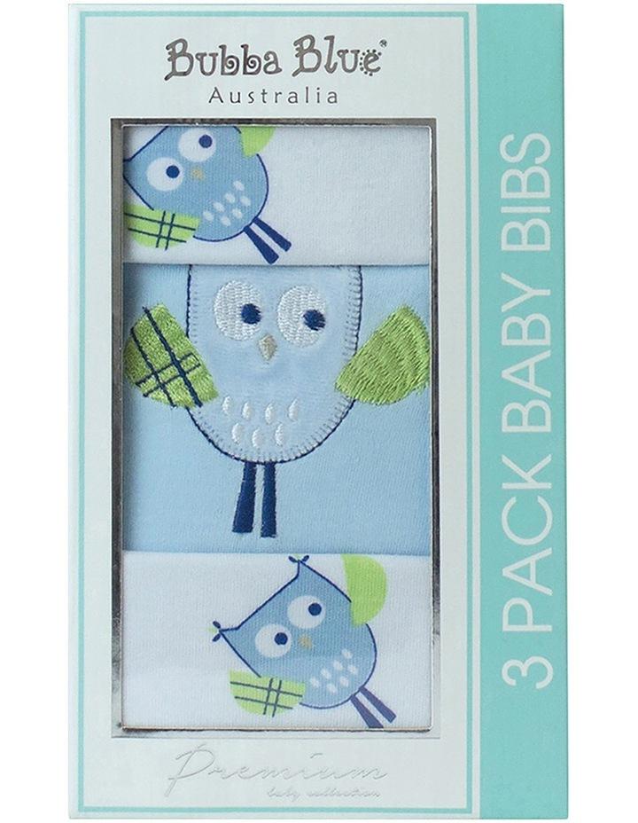 Boy Owl Bib Box 3PK image 1