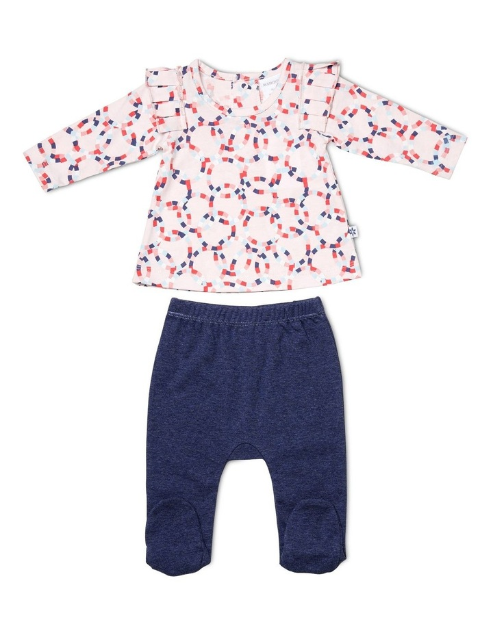 L/S Top & Footed Leggings image 1