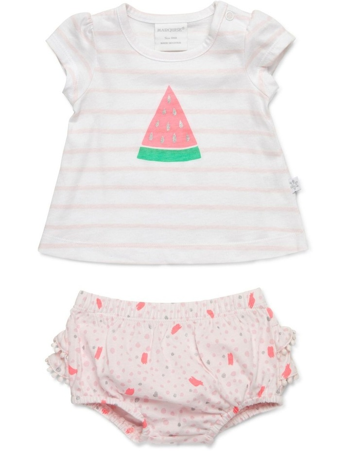 Watermelon Tee & Frilled Bloomer Set image 1