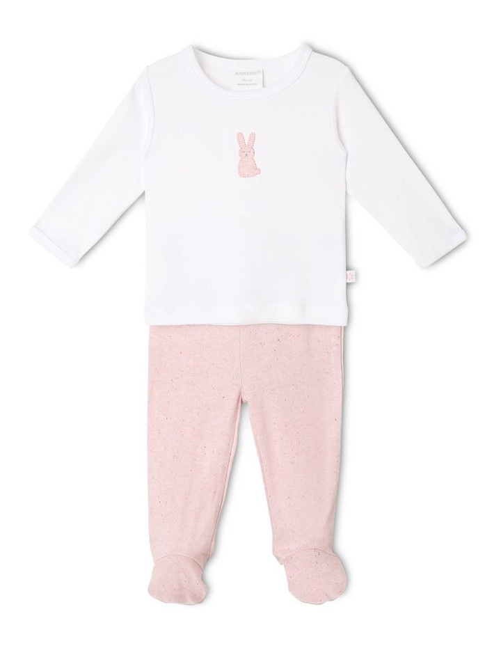 Long-Sleeve Bunny T-Shirt with Footed Legging image 1