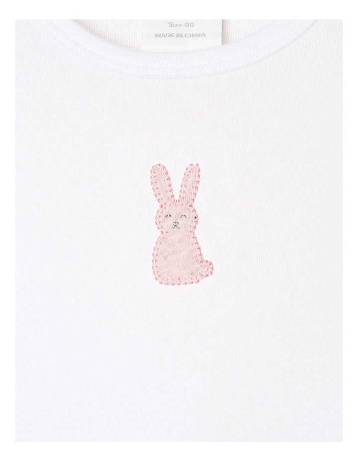 Long-Sleeve Bunny T-Shirt with Footed Legging image 2