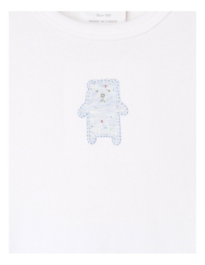 Long-Sleeve Bear T-Shirt with Footed Legging image 2