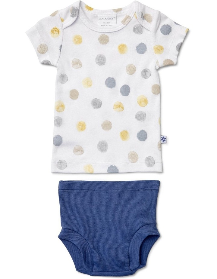 Boys Dotted Short Sleeve T-Shirt And Nappy Cover image 1