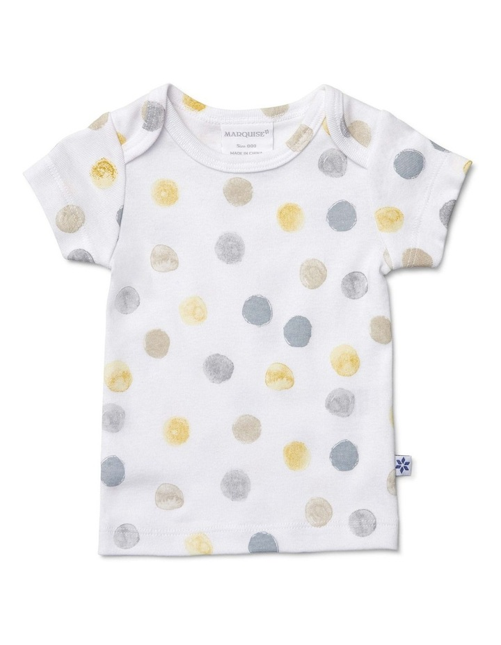 Boys Dotted Short Sleeve T-Shirt And Nappy Cover image 2