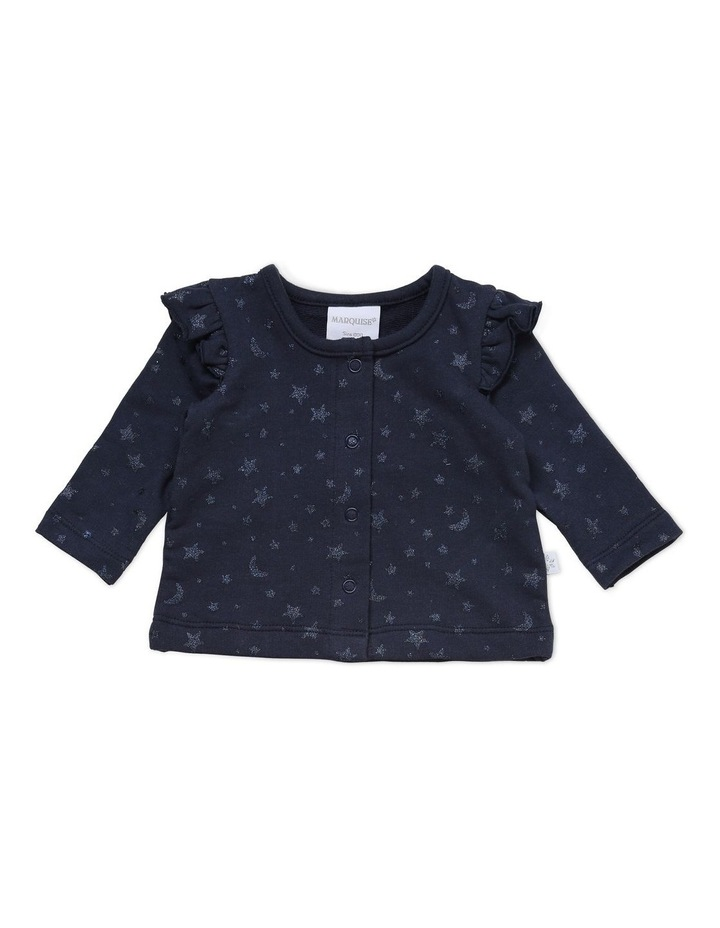 Star French Terry Top and Rib Legging Set in Navy image 2