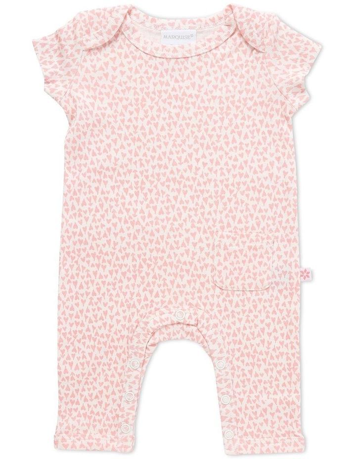 Short Sleeve Romper And Bodysuit Set 2 Pack Pink/Pink Heart image 3