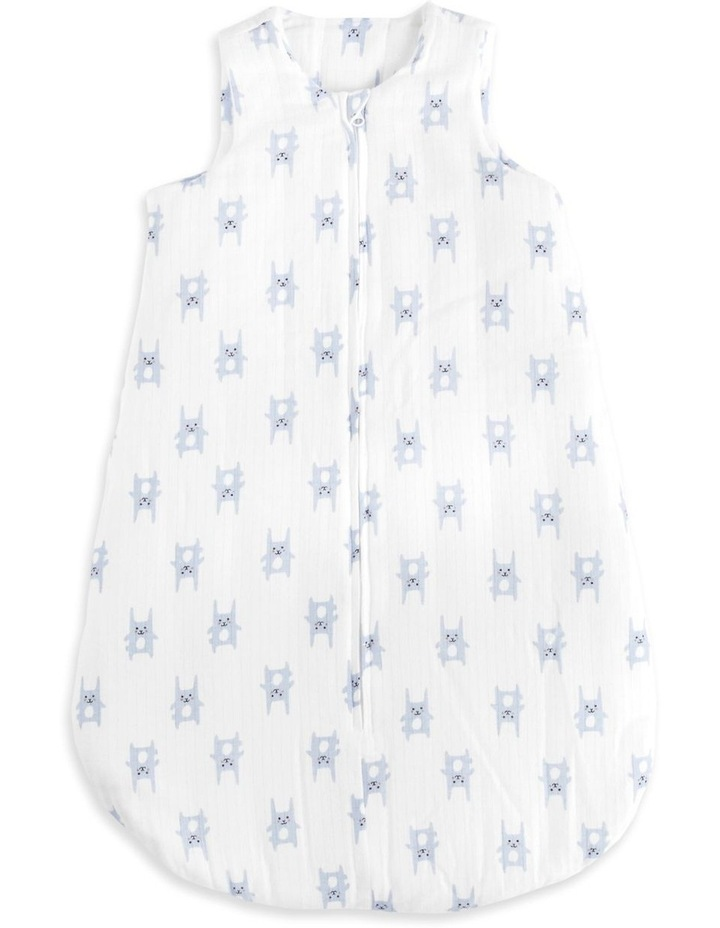 aden by aden   anais bunny blue 3.5 tog brushed muslin sleeping bag SMALL image 1