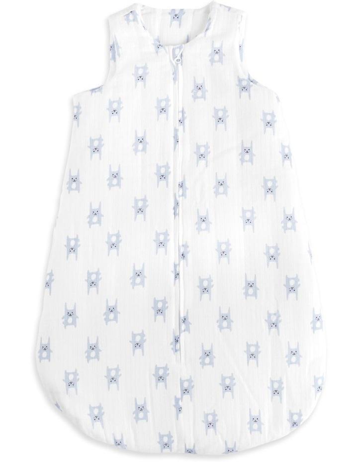 aden by aden   anais bunny blue brushed muslin 3.5 tog sleeping bag LARGE image 1