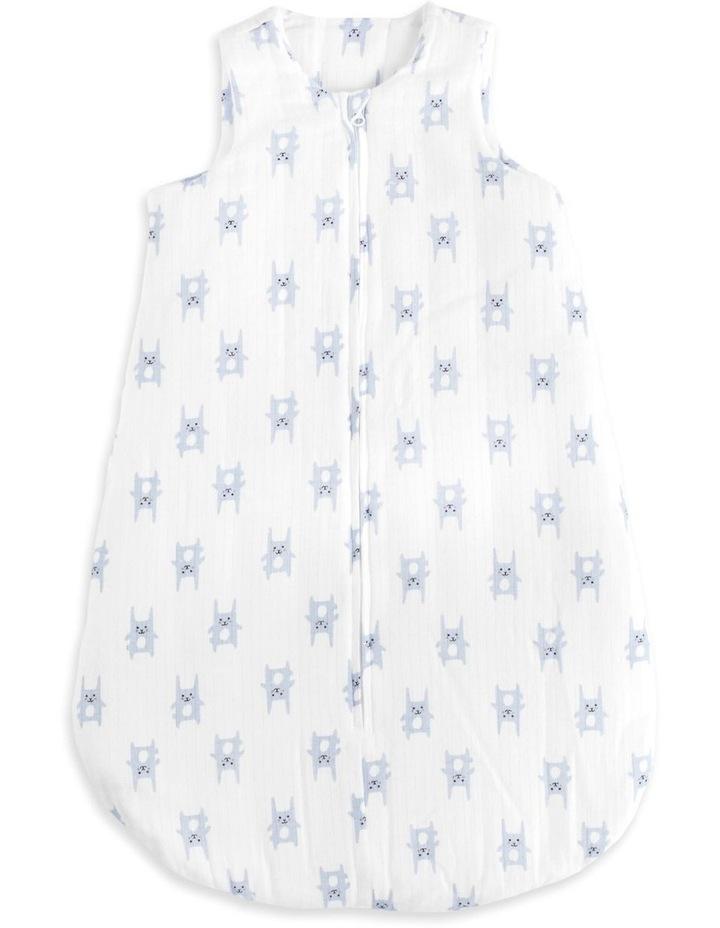 aden by aden   anais bunny blue brushed muslin 3.5 tog sleeping bag XL image 1