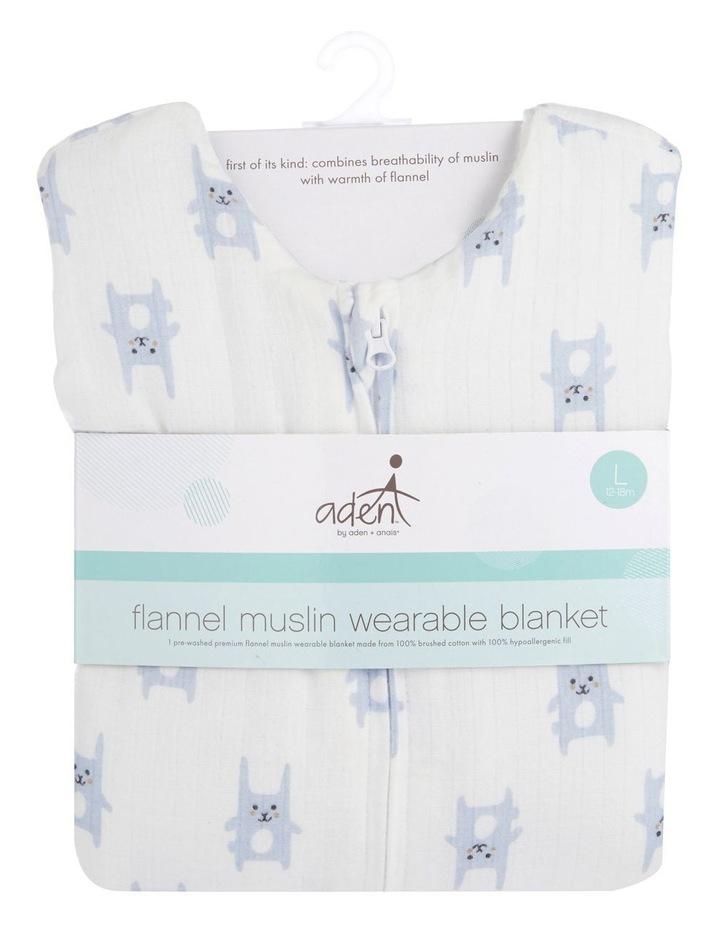 aden by aden   anais bunny blue brushed muslin 3.5 tog sleeping bag XL image 2