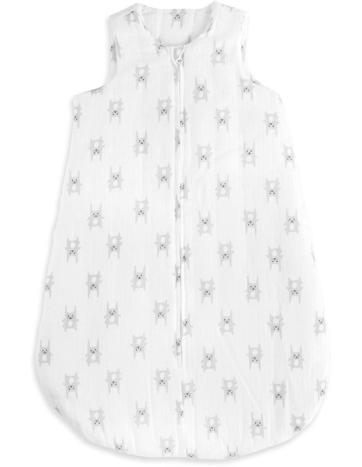 aden by aden   anais bunny grey brushed muslin 3.5 tog sleeping bag SMALL image 1