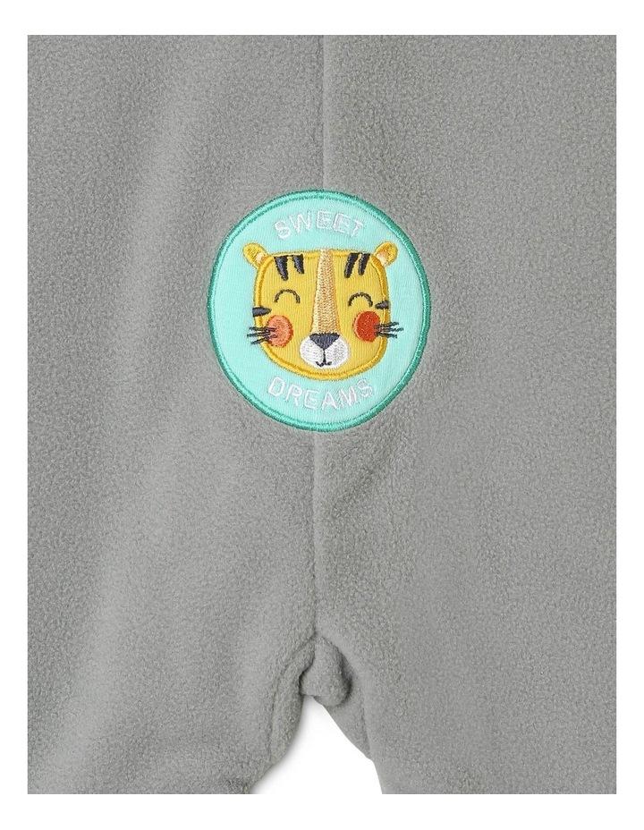 Lined Polar Fleece Blanket Sleeper Grey Tiger image 6