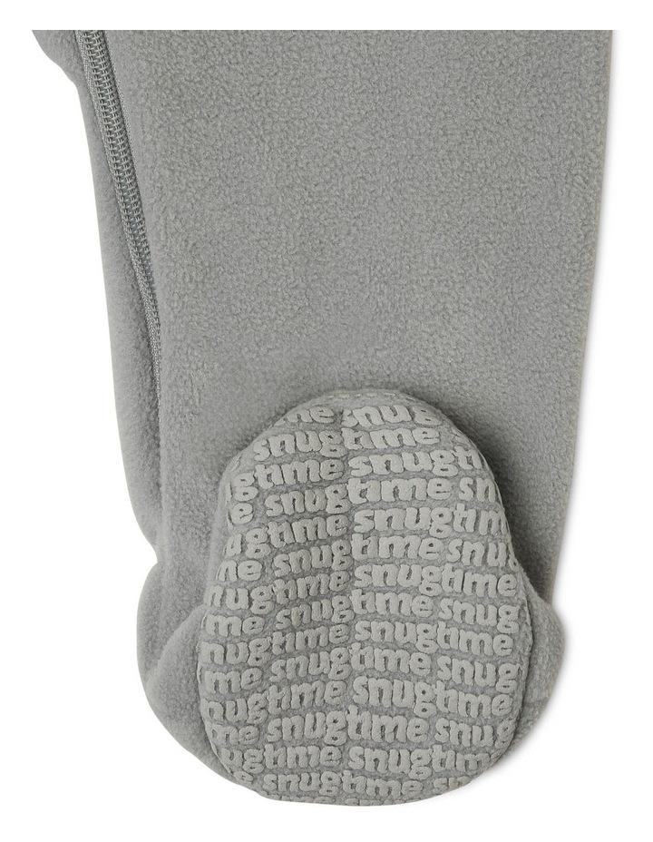 Lined Polar Fleece Blanket Sleeper Grey Tiger image 7