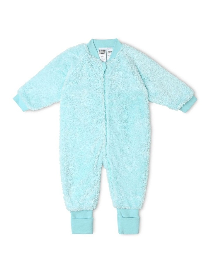 Lined Blanket Sleeper Coral Fleece Blue image 1