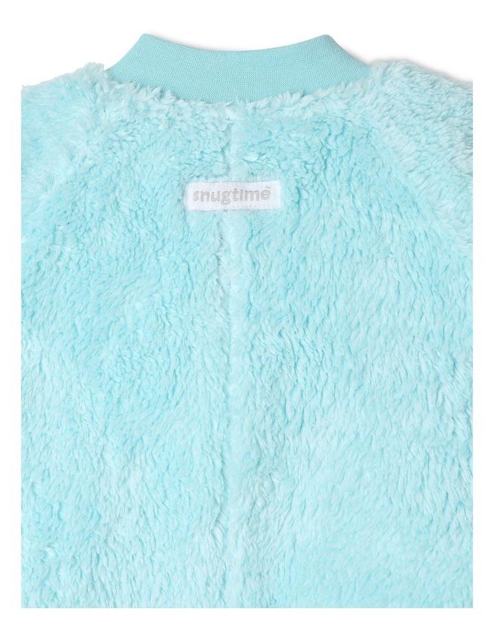 Lined Blanket Sleeper Coral Fleece Blue image 3