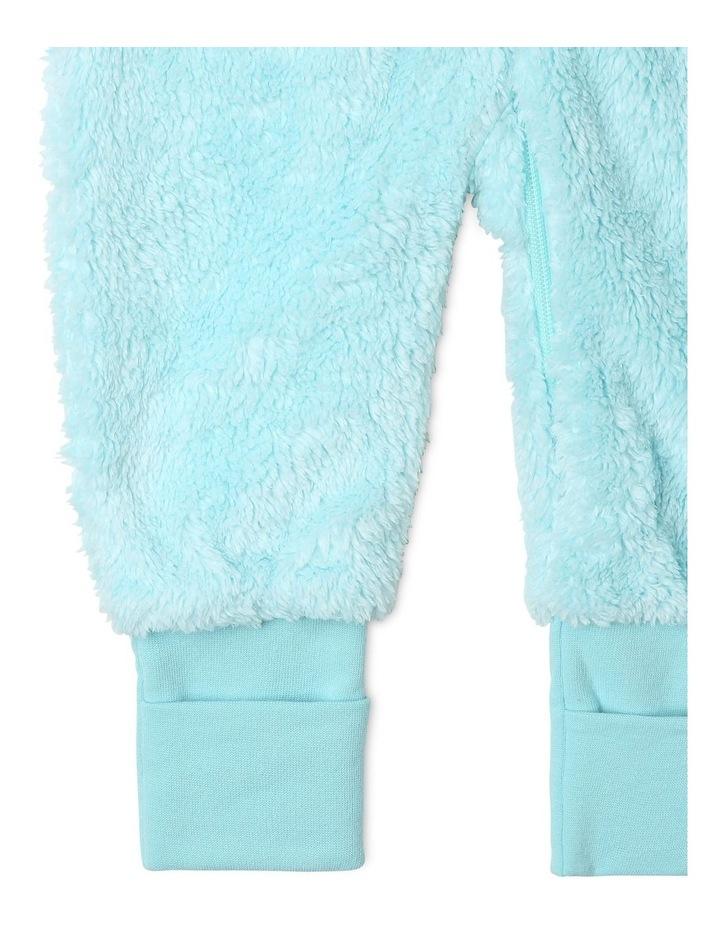 Lined Blanket Sleeper Coral Fleece Blue image 4