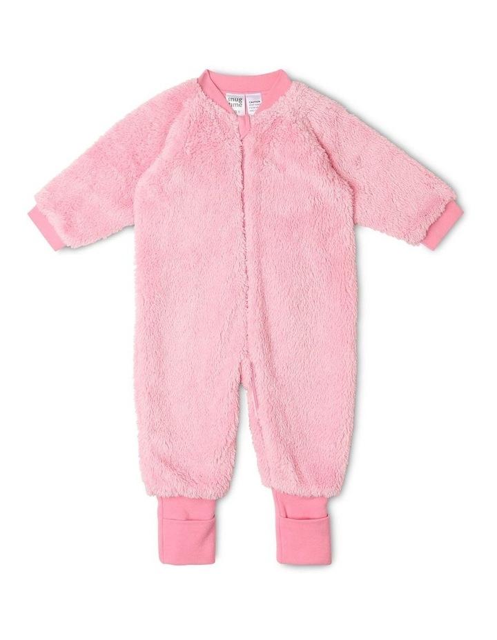 Lined Blanket Sleeper Coral Fleece Pink image 1