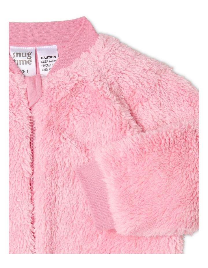Lined Blanket Sleeper Coral Fleece Pink image 2