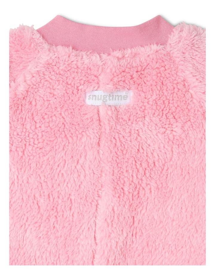 Lined Blanket Sleeper Coral Fleece Pink image 3