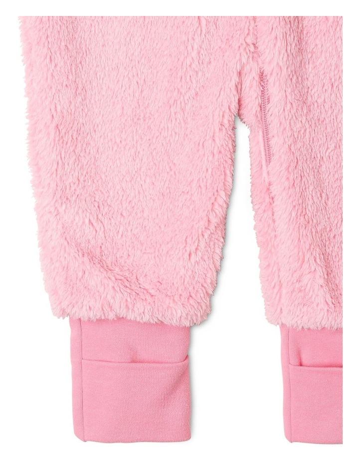 Lined Blanket Sleeper Coral Fleece Pink image 4