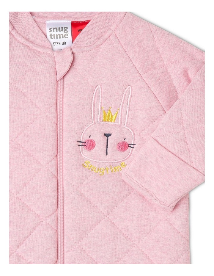 Long Sleeve Padded Cosi Bag Pink Bunny image 2