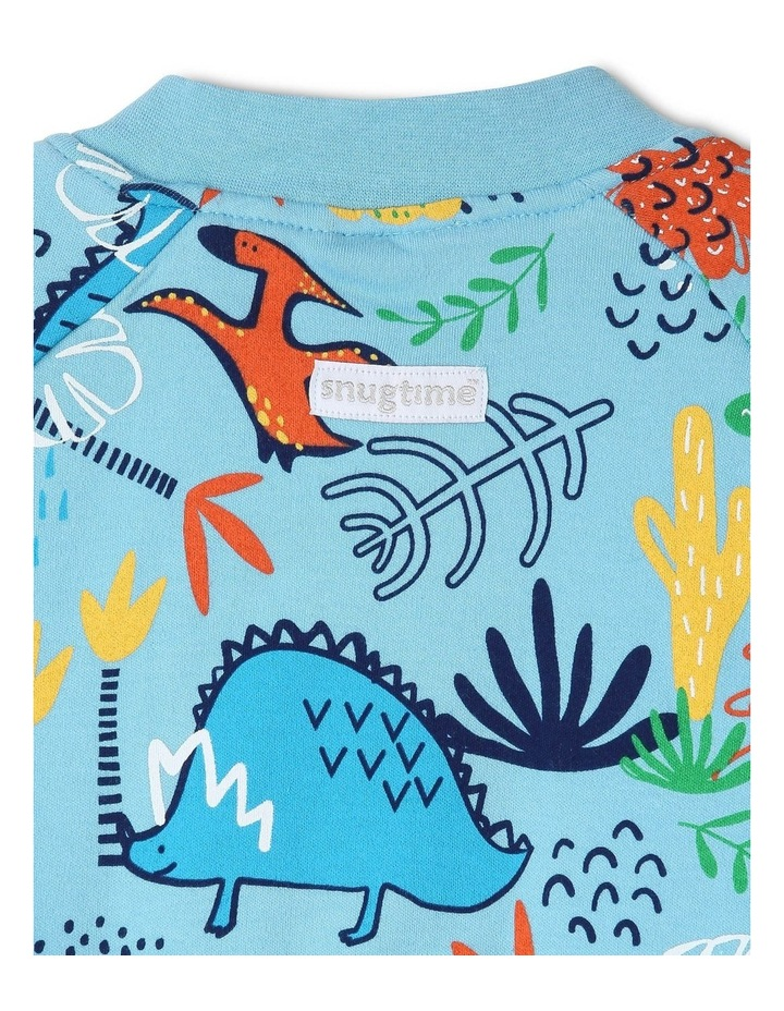 Footless Padded Blanket Sleeper Blue image 3