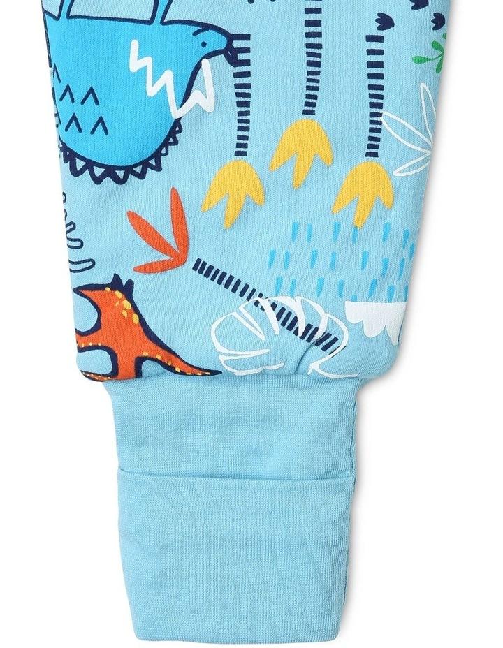 Footless Padded Blanket Sleeper Blue image 4